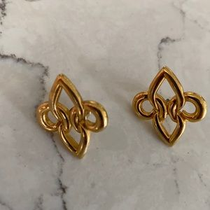 Gold earrings vintage 90s
